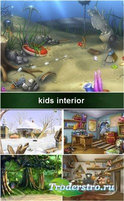 Коллекция детских интерьерных фонов
