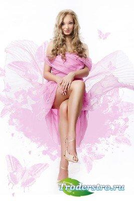 Шаблон для фотографий - Мои розовые мечты