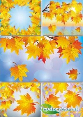 Растровые фоны - Осенние кленовые листья