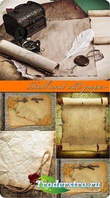 Сургучные печати и старые бумаги - фоны