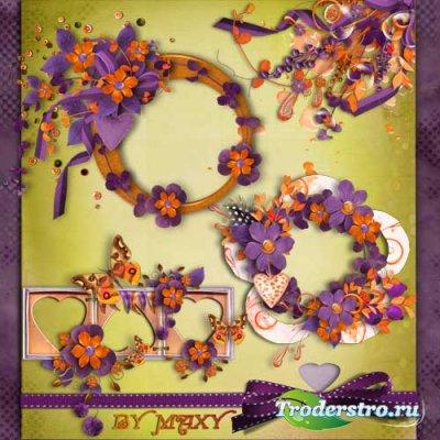 Вырезы для дизайна - Фиолетовая романтика
