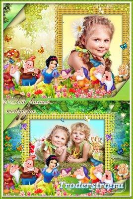 Детские рамки для фото - Белоснежка и семь гномов