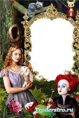 Рамка для Photoshop – Алиса в стране чудес