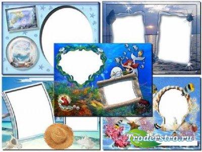 Рамки Adobe Photoshop: Лето, Море, Солнце
