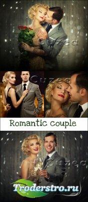 Романтичная влюбленная пара- растровый клипарт