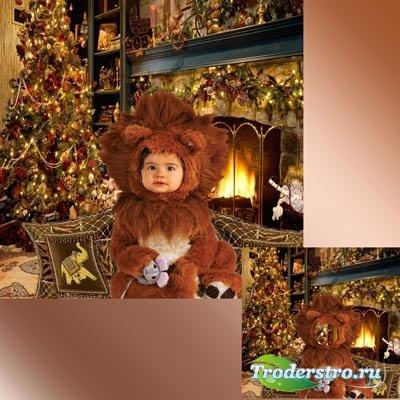 Шаблон  детский - Самый  любимый  львёнок