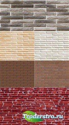 Набор текстур фаготного и простого кирпича
