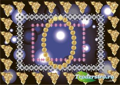 Клипарт - рамка с розами прозрачный фон