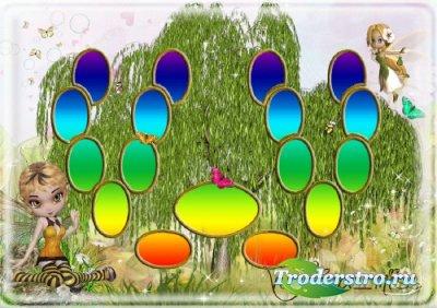 Детская виньетка - Семейное дерево с феями для девочек