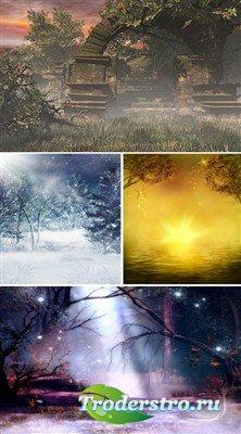 Туманное утро (коллекция сказочных фонов)