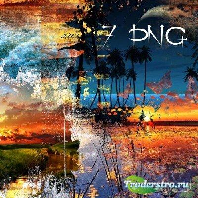 Клипарт - Фоновые вырезанные png картинки на тему Закат