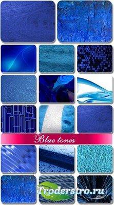 Текстуры различных поверхностей в голубых тонах