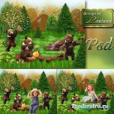 Многослойный детский исходник - Жили-были три медведя