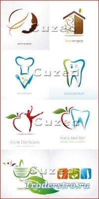 Логотипы для вашей компании - векторный клипарт