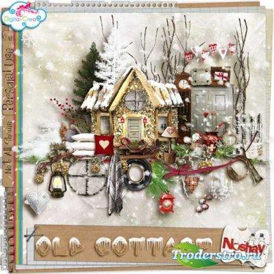 Зимний скрап-набор - Старый домик