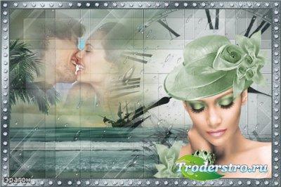 Рамка на 2 фото для влюбленных  – Романтическое время