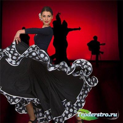 Шаблон  женский - Фламенко