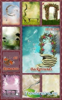 Романтические и сказочные фоны