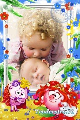 Детская рамочка для фото - Мои любимые Смешарики
