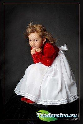 Шаблон для photoshop - Художественный портрет девочки