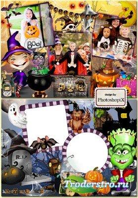 Рамки для детей к празднику Хэллоуин – Ночные страшилки