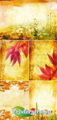 Осень в старом стиле (винтажные фоны)