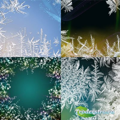 Фоны - Зимние узоры