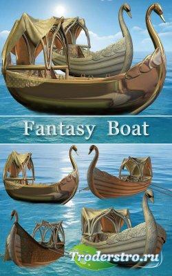 Клипарт - Фантастическая лодка