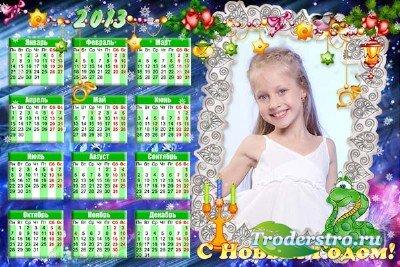 Календарь на 2013 год змеи - Загадай желание под ёлку