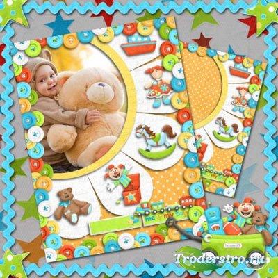 Рамка для детей - Малыш и его игрушки
