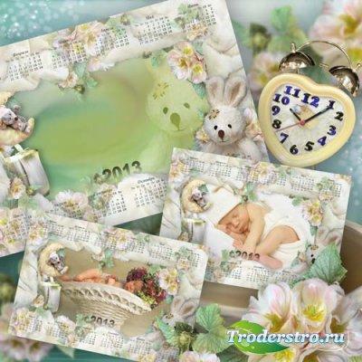 Календарь на 2013 г - Маленькое чудо в одеялах