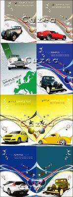 Раритетные автомобили - векторный клипарт