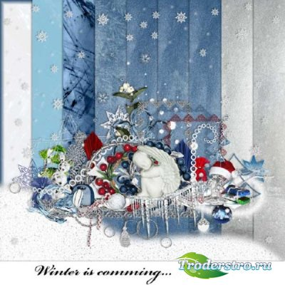 Нежный зимний скрап-набор - Зимние ожидания
