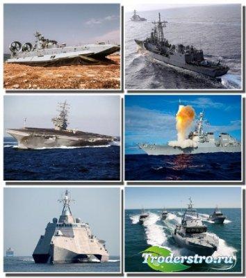 Военные корабли различных стран на обоях для рабочего стола