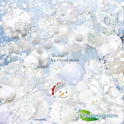 Клипарт в PNG – Снежные шарики и снежки