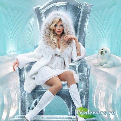 Шаблон женский - Снежная королева современности
