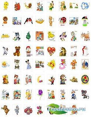 Детские сказочные персонажи (коллекция PNG)