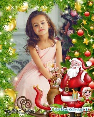 Новогодняя рамка - Славный праздник Новый год