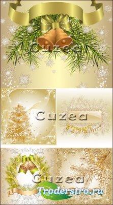 Новогодний и рождественский декор в векторе