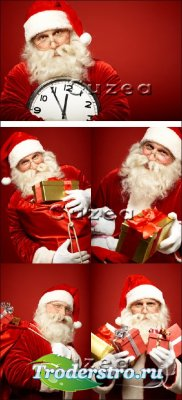 Санта с подарками - Stock photo