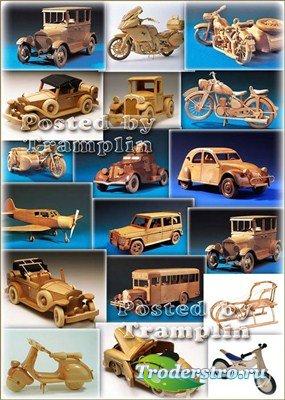 Деревянные модельки – Машинки, мотоциклы, велосипеды, санки