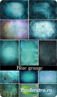 Синий гранж (набор текстур в голубых тонах)