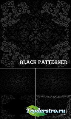 Черные узорные фоны