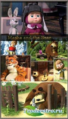 Подборка фонов с героями мультфильмов – Маша и Медведь