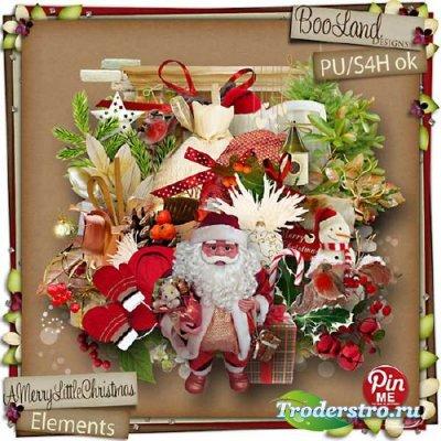 Яркий новогодний скрап-набор - Веселое маленькое рождество