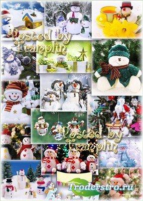 Снеговики – Красивые рождественские фоны