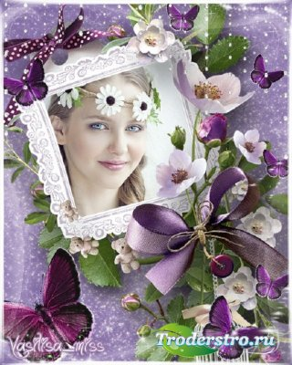 Цветочная рамка - Цветы как бабочки