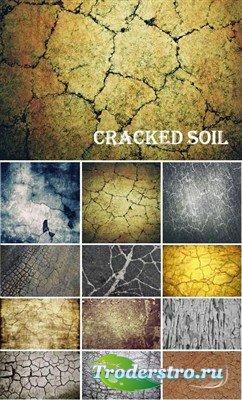Потрескавшаяся почва (большая коллекция текстур)