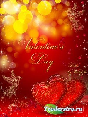 PSD Исходник - Два сердца в день Святого Валентина