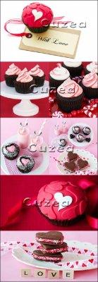 Пирожные  с любовью - Stock photo